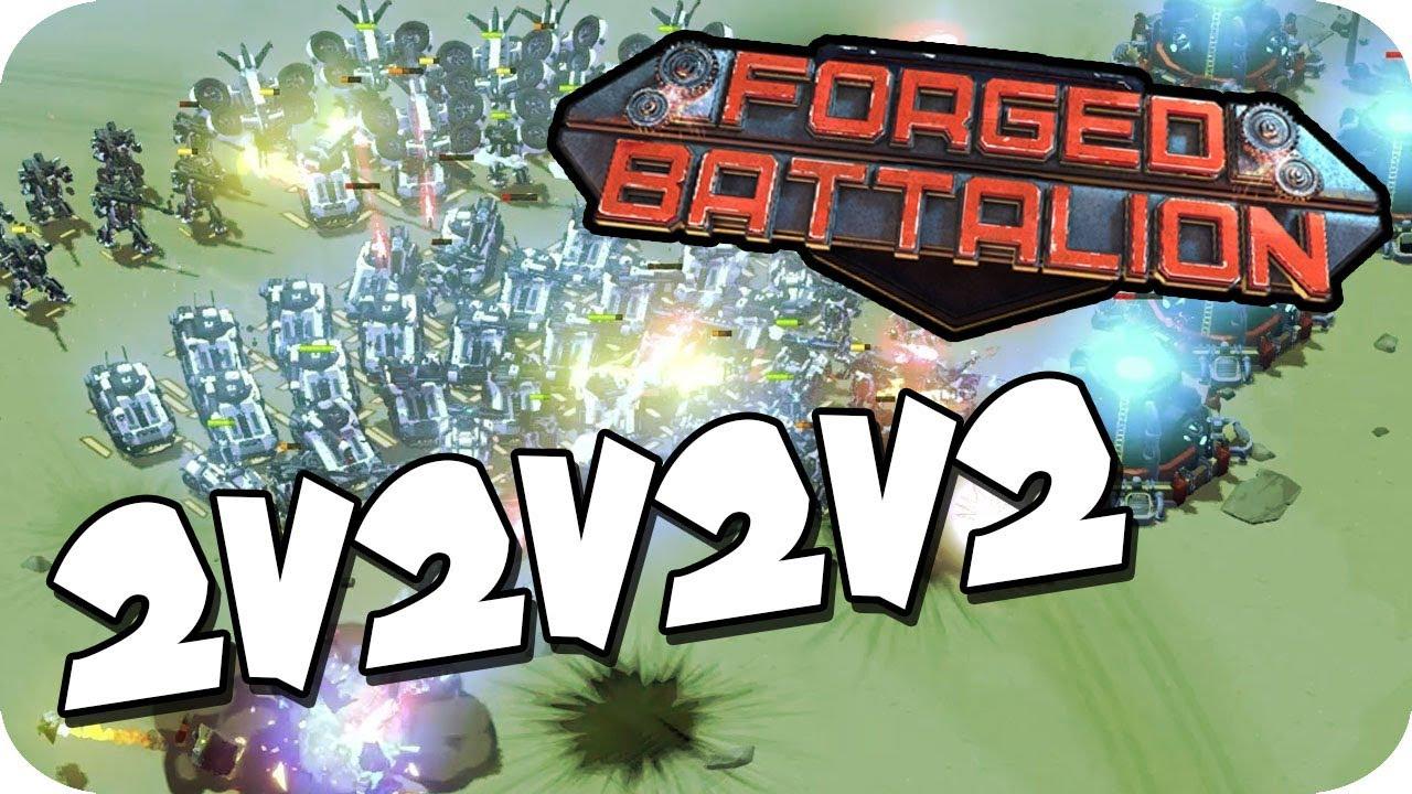 Download CRAZY, EPIC BATTLE!  ► Forged Battalion Multiplayer 2v2v2v2 Gameplay