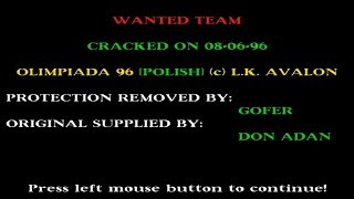 AMIGA REUPLOAD INTRO & MUSIC Olimpiada 96 OLYMPIADA 96 OLIMPIAD OLYMPIAD OCS 1996 LK Avalon Pl cr WT