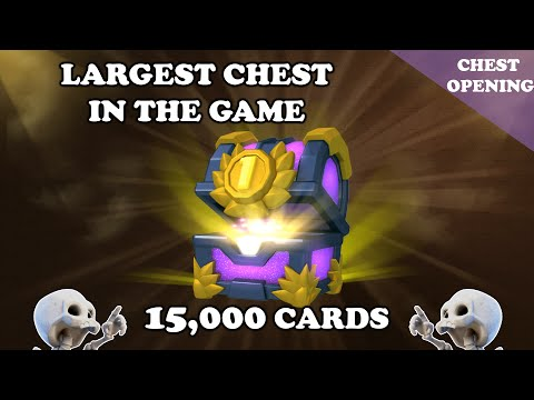 [Chest Opening] Clash Royale | 15,000 Cards | First Place Largest Chest From 250,000 Gem Tournament