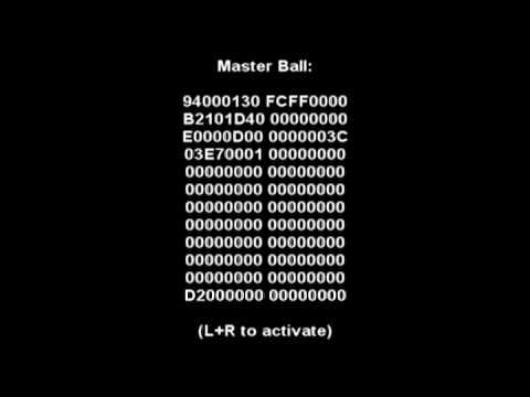 <b>Pokemon</b> Platinum ar <b>code</b>-999x master ball and other <b>codes</b> - YouTube