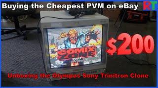 Buying the Cheapest BIG PVM CRT on eBay! - Olympus OEV 202 / Sony PVM 1953MD Clone