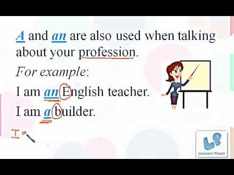 Basic English grammar session on definite and indefinite articles ...