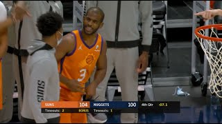 CP3 Stares Down Suns Rookie After He Steps On His Shoe