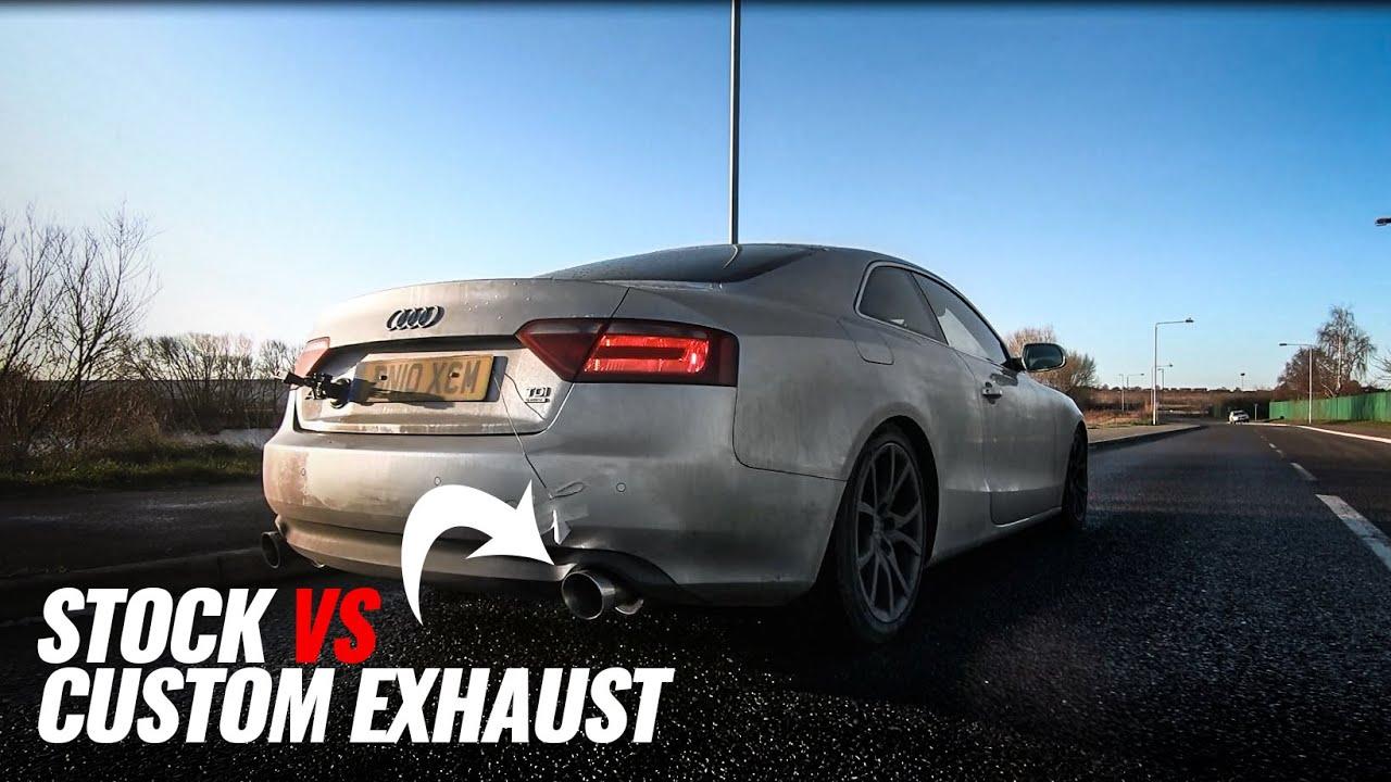 Audi V6 3.0 TDI Sound Comparison! Stock vs Custom Exhaust vs DPF Delete