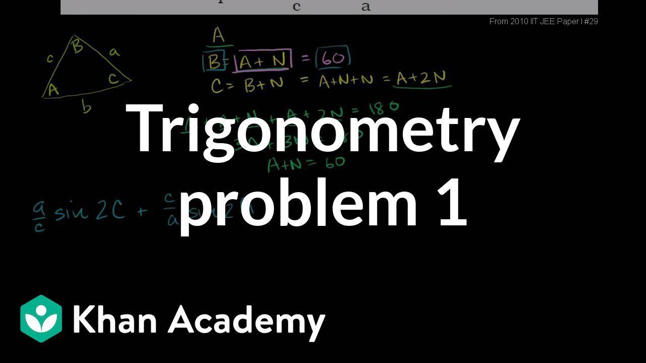 Trig challenge problem: arithmetic progression (video) | Khan Academy