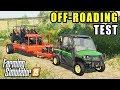 FS19- JOHN DEERE GATOR TOWING MAHINDRA UTVS & FIREWOOD   HEAVY HAULING