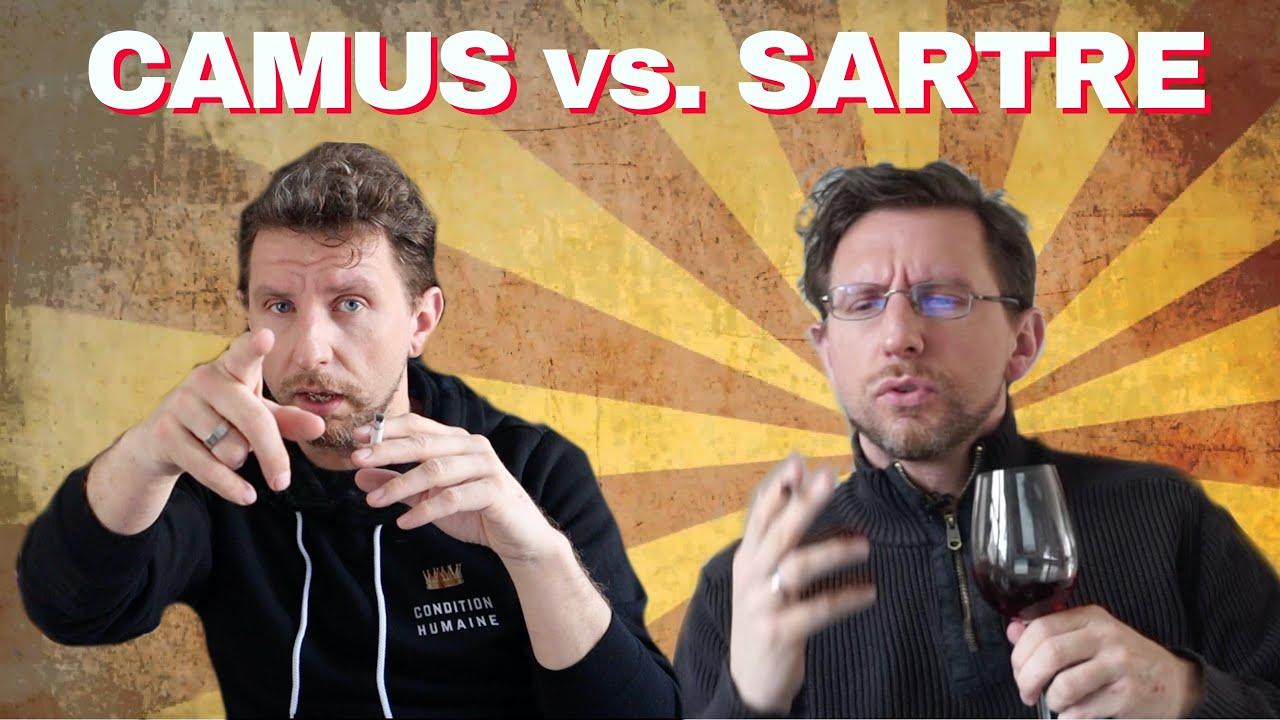 Sartre und Camus diskutieren über die Pest