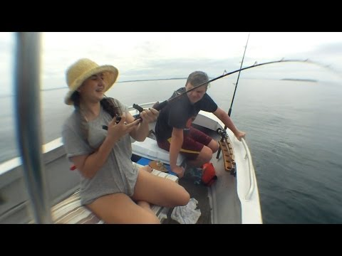 Hauraki Gulf Snapper Fishing In 18ft Alloy Centre Console Long Boat