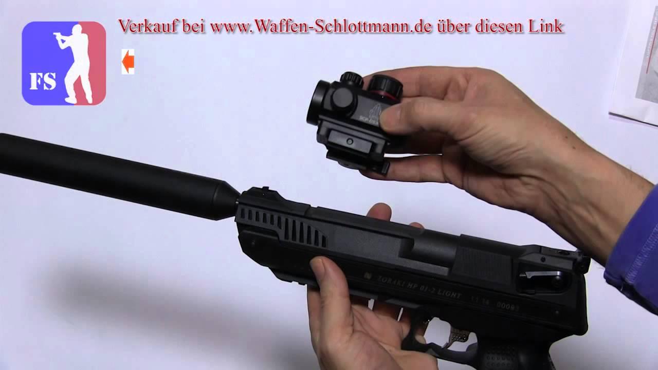 schalldaempfer und adapter fuer luftpistole zoraki youtube. Black Bedroom Furniture Sets. Home Design Ideas
