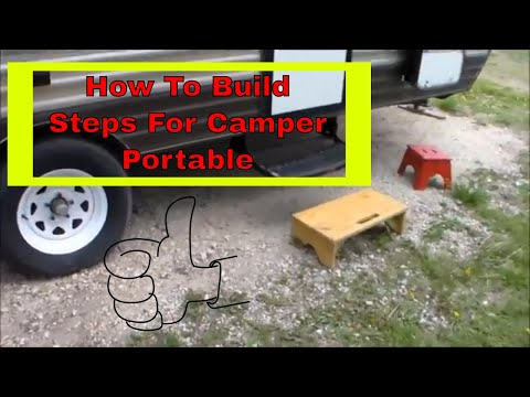 How To Build Wood RV Steps Portable Steps For Camper RV