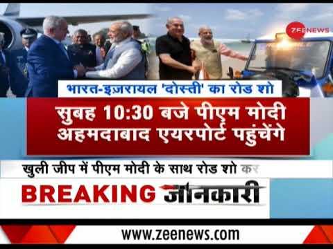 PM Modi to accompany his 'friend', Israeli Prime Minister Benjamin Netanyahu in Gujarat today
