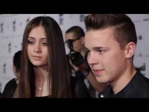 Felix Jaehn & Jasmine Thompson Red Carpet Interview at Energy Fashion Night 2015