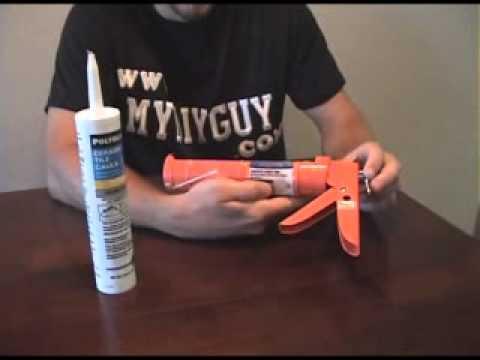 how to load a caulk gun youtube. Black Bedroom Furniture Sets. Home Design Ideas