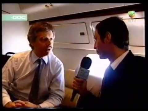 Entrevista a Nestor Kirchner en el avion Tango 01