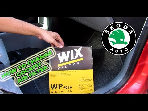 Hot to change Skoda Fabia cockpit Air Filter