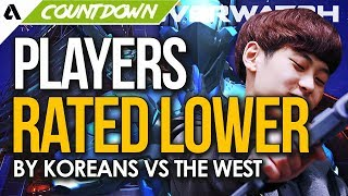 Top 5 Overwatch Players Rated Lower By Koreans Vs The West