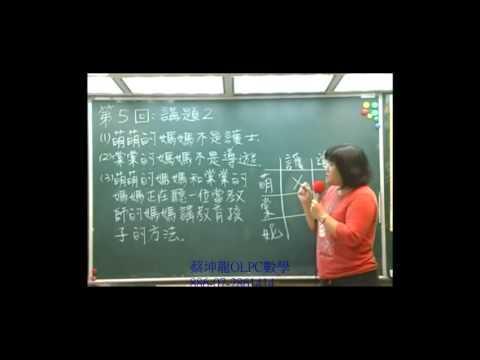 金頭腦資優數學初級上第五回講題1~5 - YouTube