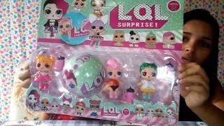 Abrindo kit boneca lol FAKE (falsa)
