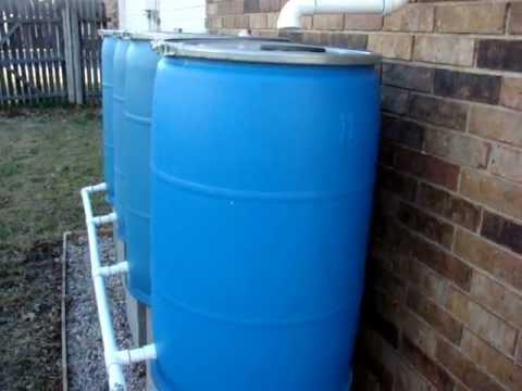 Diy Rain Barrel System Youtube