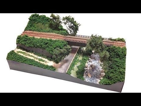ジオラマ製作 田舎の小さな鉄橋 (鉄道模型)