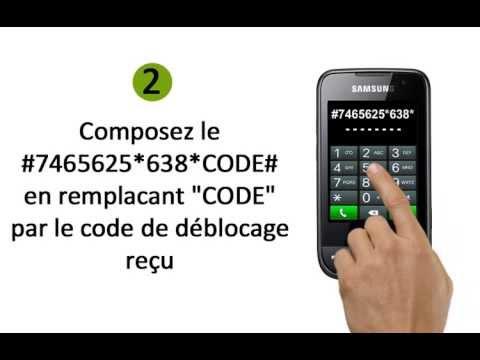 deblocage d`un téléphone portable Samsung S5600