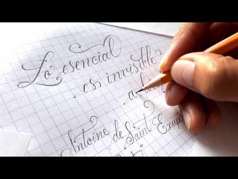 Caligrafía Copperplate con lápiz - Pencil Calligraphy - Copperplate Calligraphy - Handwriting