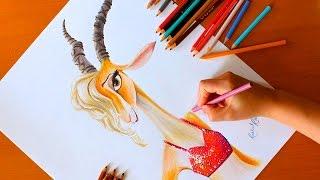 Drawing: GAZELLE | Zootopia | Disney | BUDGET ART