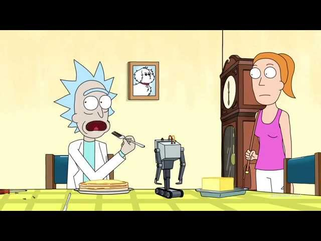 somebody entered rick and morty s pass the butter robot in a death