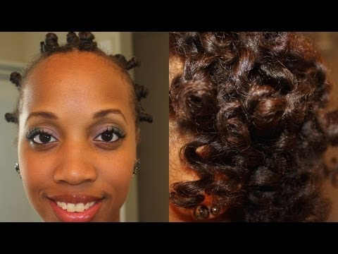 Bantu Knot Out On Straight Hair Obi Natural Haircare