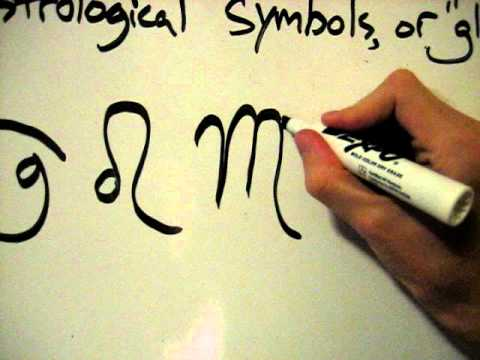 How To Draw Astrological Symbols Or Glyphs For Zodiac Signs Planets Youtube