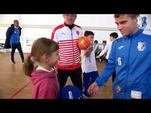 """""""Joacă fotbal cu FC Farul Constanța"""", revine la Școala nr. 28 Dan Barbilian Constanța"""