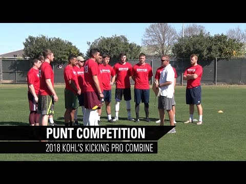 Punt Competition | 2018 Pro Football Combine | Kohl's Kicking Camps