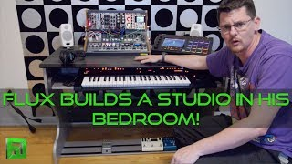 Flux's Bedroom setup with Zaor Miza jr and Ik Multimedia iLoud Micro monitors