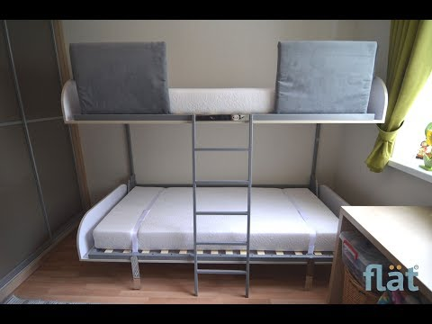 FLAT - Bunk Bed Transformer.  Space Saving Furniture That Transforms 1 Room Into 2 Or 3
