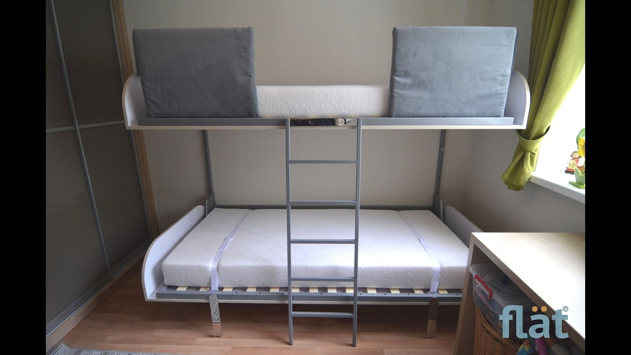 Flat Bunk Bed Transformer E Saving Furniture That Transforms 1 Room Into 2 Or 3