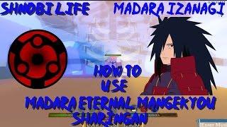 ROBLOX Shinobi Life 🅾️🅰️ - Madara Eternal Mangekyou Sharingan