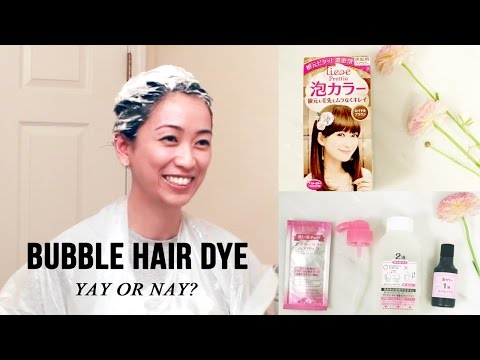 Hair Dye Tutorial & Review of Liese Bubble Hair Color