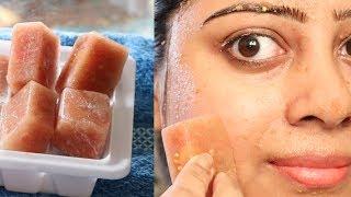 Skin Lightening TOMATO CUCUMBER Ice Cubes to Get Fresh Looks