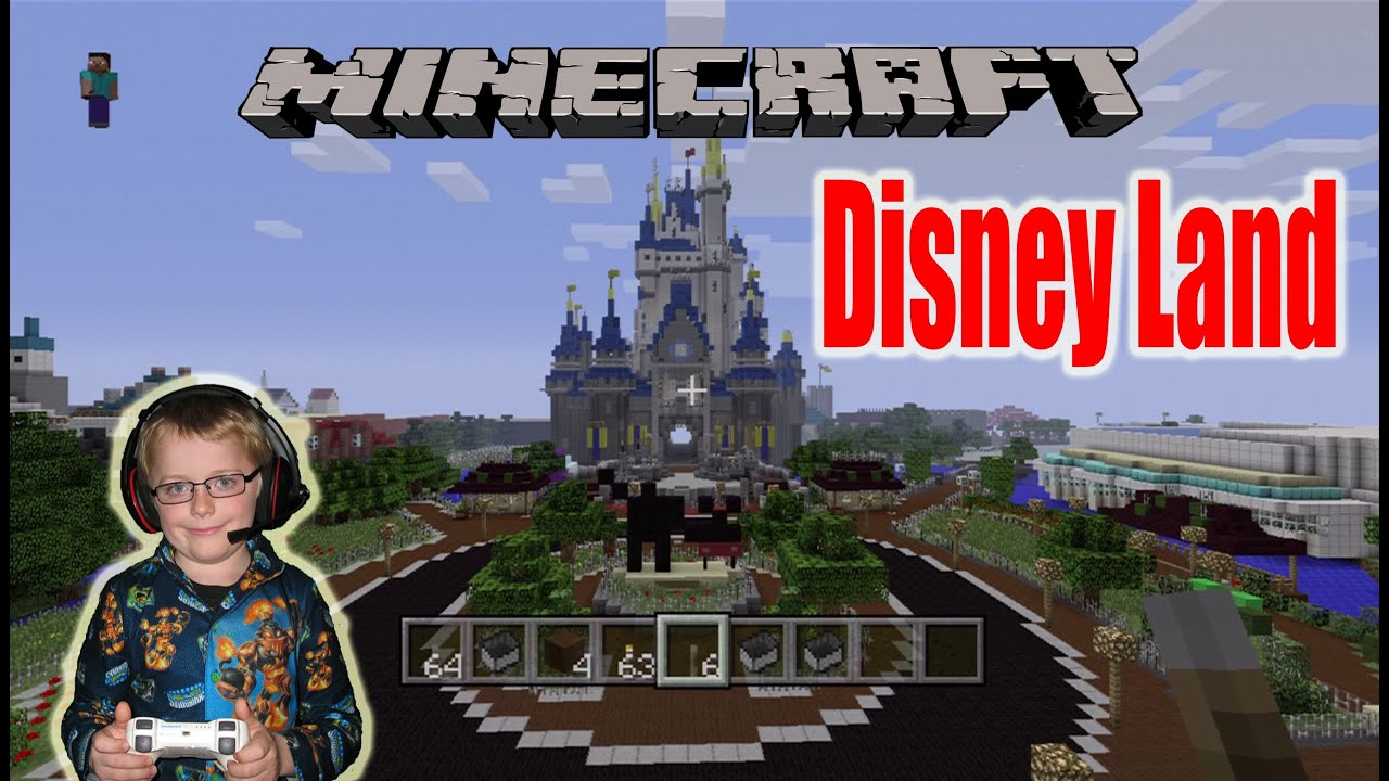 Minecraft xbox 360 map showcase disneyland again youtube gumiabroncs Image collections