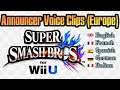Frame from Super Smash bros for. Wii U PAL Language Differences: Announcer