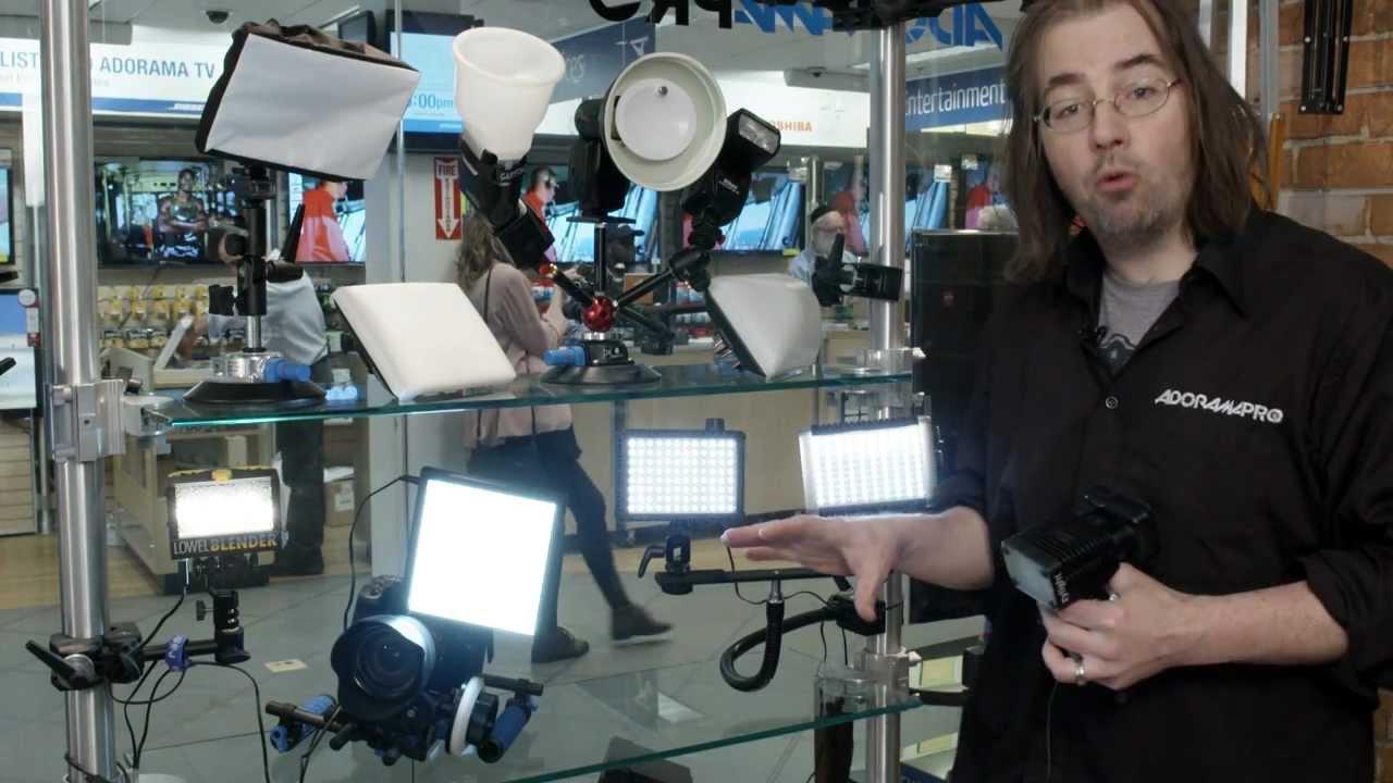On-Camera LED Lighting with Adorama Pro Imaging - YouTube