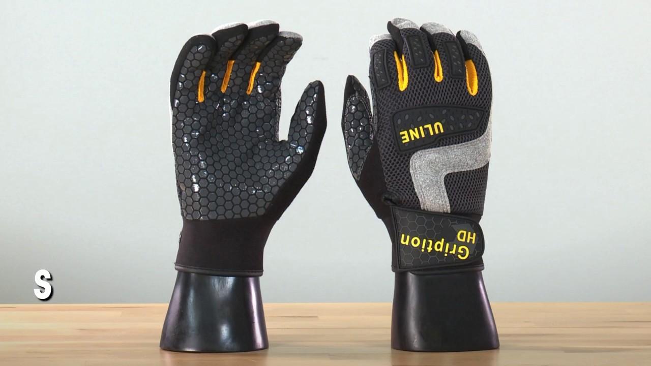 Uline Heavy Duty Gription® Gloves