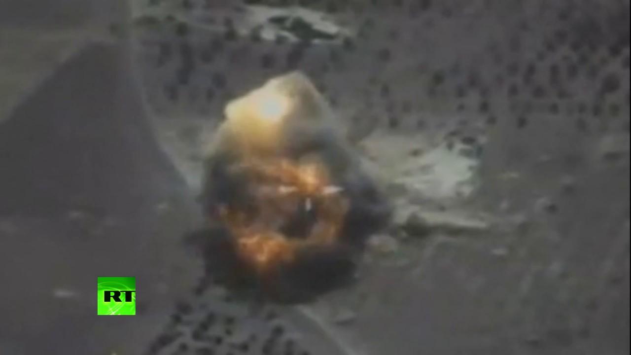 Видео ударов ракетами «Калибр» по позициям террористов в сирийском Идлибе