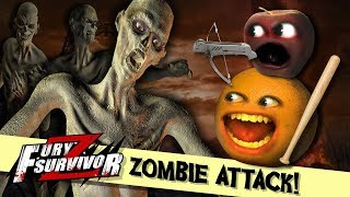 ZOMBIE ATTACK!!! | Annoying Orange and Midget Apple play Fury Survivor Z! #sponsored