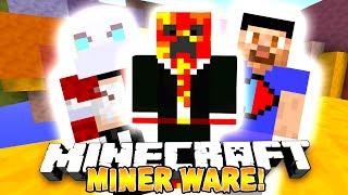 """Minecraft - MINER WARE! """"CRAZY FUNNY!"""" #1 - w/ Preston, Vikkstar123 & Nooch!"""