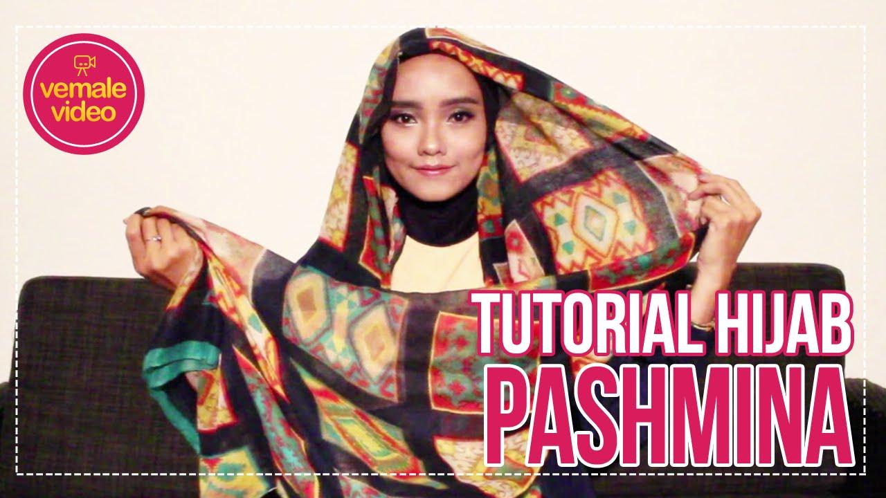 Tutorial Hijab Vemale Hijab Simpel Pashmina Chiffon Motif Ceria