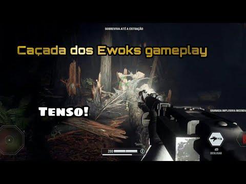 Download Gameplay Star Wars Battlefront 2 | Modo Caçada do Ewoks | Sobrevivendo em Endor!