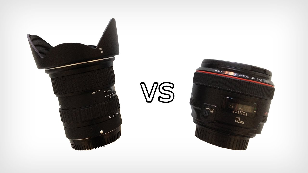 Prime Lens vs Ultra Wide Angle Lens - YouTube