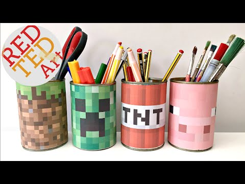 Minecraft Craft EASY Desktidy (Great Recycled DIY too!)