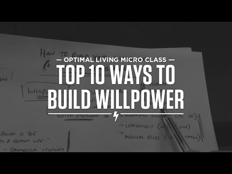 Top 10 ways to build your willpower (and why you should care!)